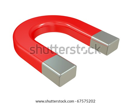 The big magnet isolated on a white background - stock photo
