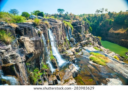 The big Pongour waterfall near Da Lat city, Vietnam