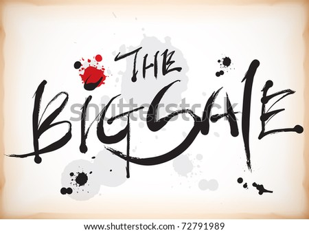 The Big Sale in Calligraphy Style - stock photo