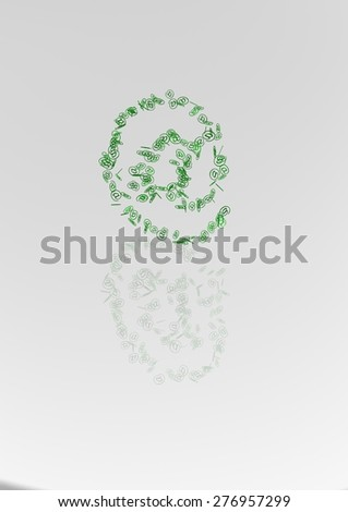 The big sign of e-mail made of a set of small signs of e-mail - stock photo