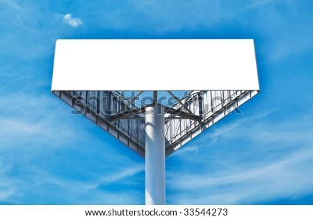 The big tripartite billboard. HDRI image - stock photo