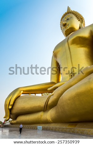 The Biggest Buddha in the world - Thailand - public place - stock photo
