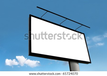 The billboard on the blue sky background - stock photo