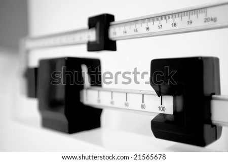 the black and white scale - stock photo