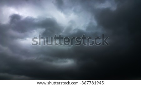 The black cloud - stock photo