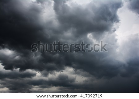 The black cloud in to the strom - stock photo