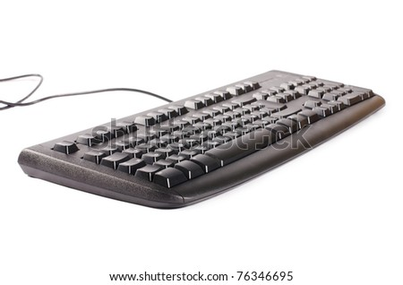 The black computer keyboard isolated - stock photo