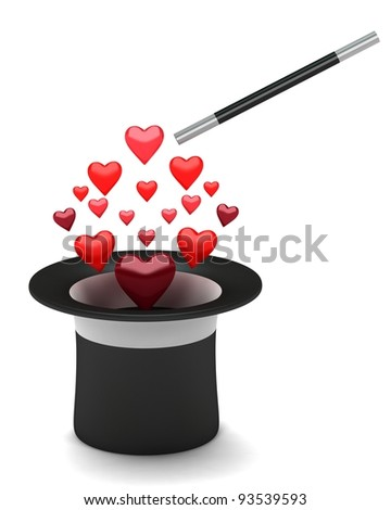 The black hat with hearts