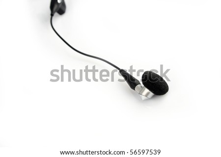 The black headset isolated on white background