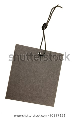 The black paper label isolated on a white background - stock photo
