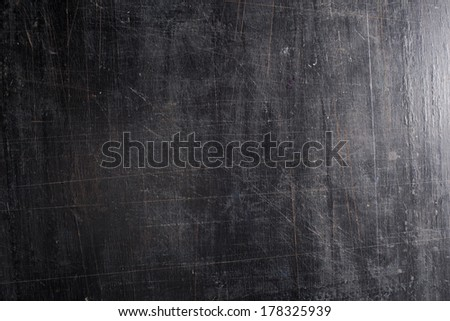 The black scratched background. - stock photo