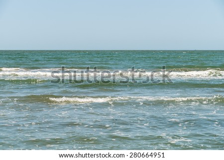 The Black Sea Water Waves - stock photo