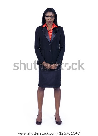 The black woman in her business attire - stock photo