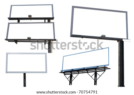 the blank advertising boards - stock photo