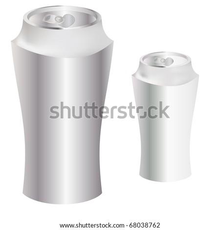 The Blank metal can. illustration.