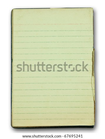 The Blank of old paper isolated on white background - stock photo