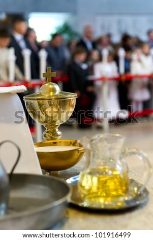 The blessed sacraments on the alter - stock photo