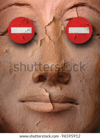 the blind man - stock photo
