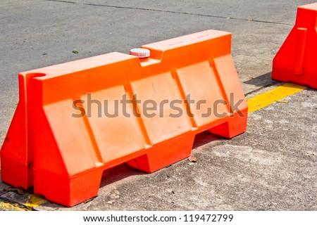 The blocking of traffic Panel - stock photo
