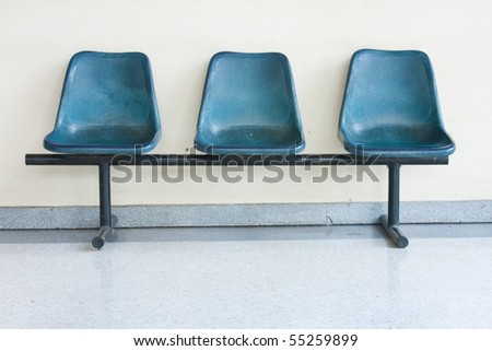 the blue chairs on the floor , pattern blue chairs - stock photo