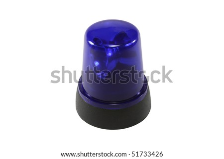 The Blue Flasher - stock photo