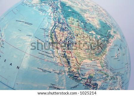 the blue globe - stock photo