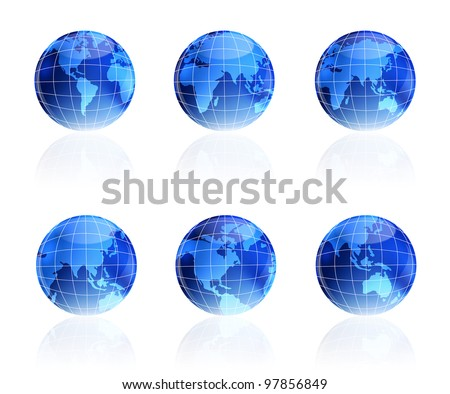 The blue globe. The Internet the concept