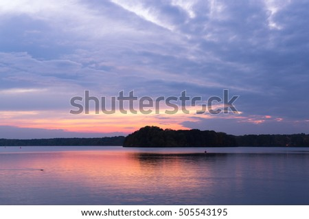 The Blue Hour on Lake Tegel in Berlin, Germany