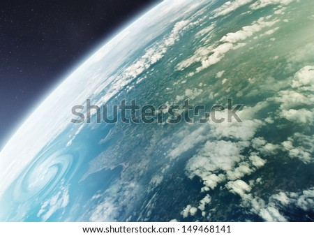 The Blue Marble - Planet earth, the planet of Life. Illustration. NO NASA images used. - stock photo