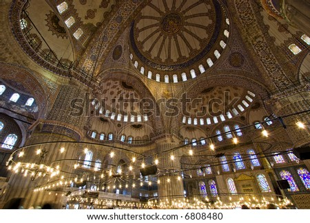 The Blue Mosque Istanbul Dome Interior