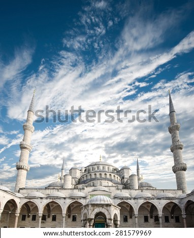 The Blue Mosque, (Sultanahmet Camii), Istanbul, Turkey - stock photo