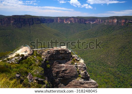 The Blue Mountains in New South Wales, Australia - stock photo