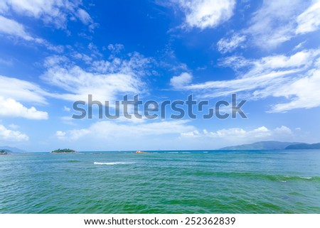 The blue sea and the sky - stock photo