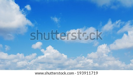 The blue sky and Cloud background