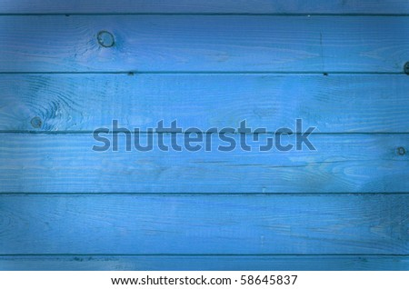 the blue wood texture with natural patterns - stock photo