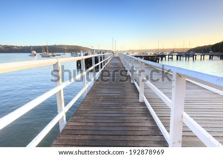 The boardwalk at Balmoral Beach at the southern end is used by swimmers, fisherman and boat owners