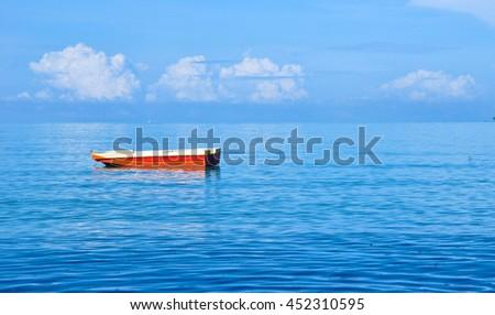 The Boat - Alone - stock photo