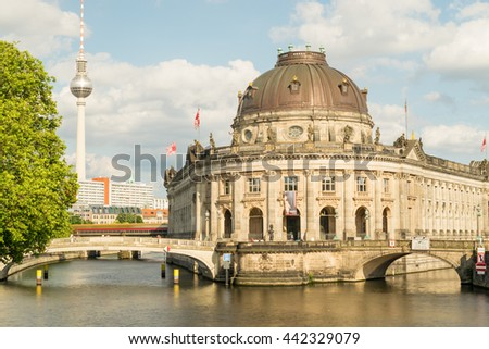 The Bode Museum island in Berlin, Germany. - stock photo