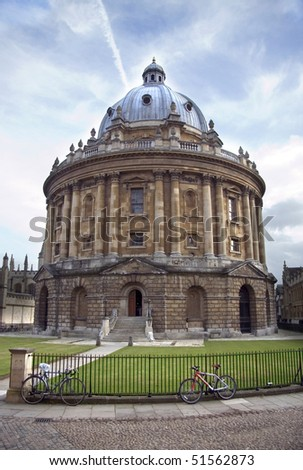 The Bodelien Library and Radcliffe Camera building, Oxford, UK - stock photo