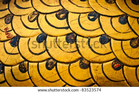 The body of a gold dragon background texture - stock photo