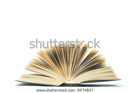 The book a fan on white background