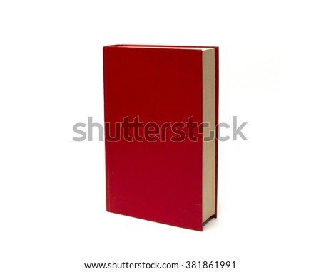 The book in a red cover, on a white background  - stock photo