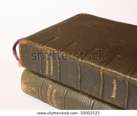 The book of Catholic Church liturgy - stock photo
