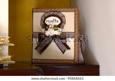 The book of recipes witha flowers - stock photo