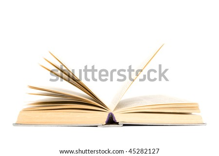 The book on a white background close up