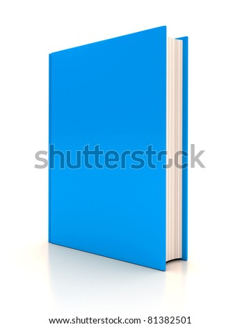 The book on white background. 3d render - stock photo