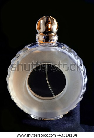 the bottle of perfume