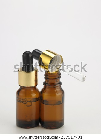 the bottle of the essential oil