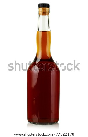 The bottle on a white background.