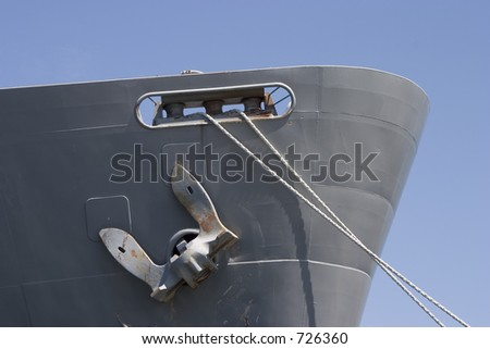 The Bow of a large cargo ship